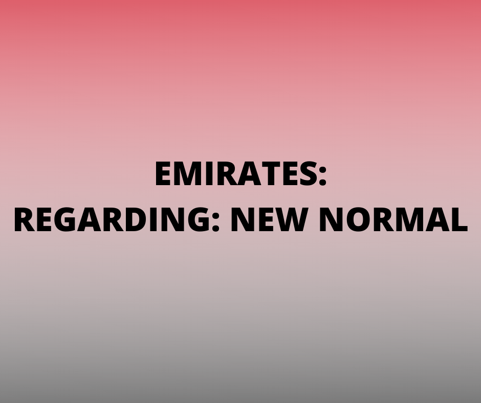 Emirates Travel Advisory